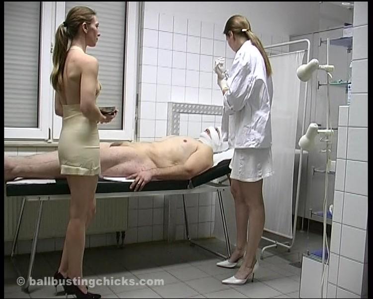 image Enema and spanking while retaining