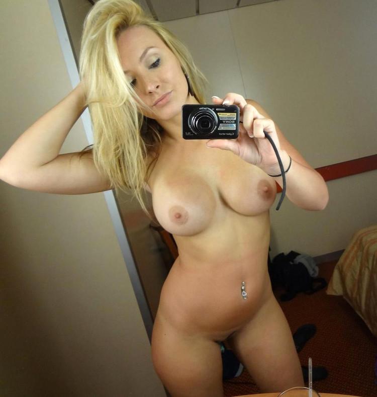 Busty Blonde Milf Selfie