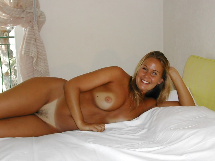 Sexy Blonde Wife With Perfect Tanlines