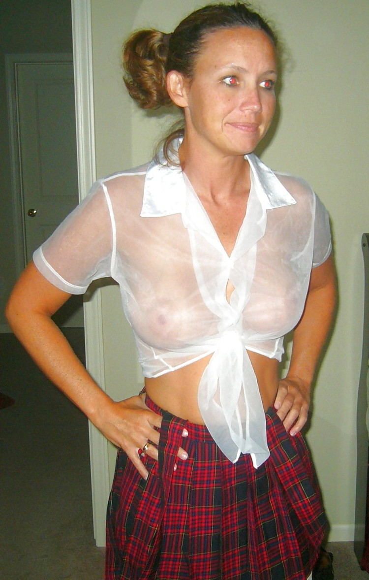 Slutty Mom Dressed Like A Schoolgirl