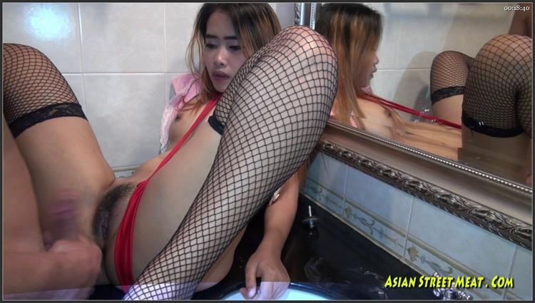 Asian strap on hardcore