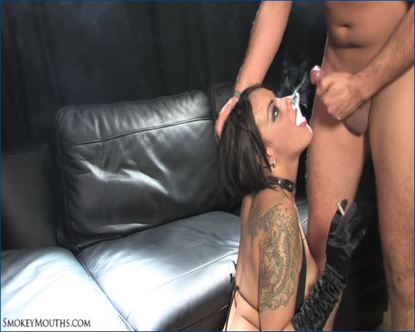 Hot indian chick smoking while fucked