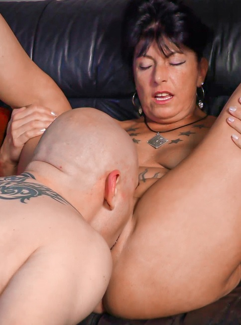German porn with mature brunette slut Jenny K.